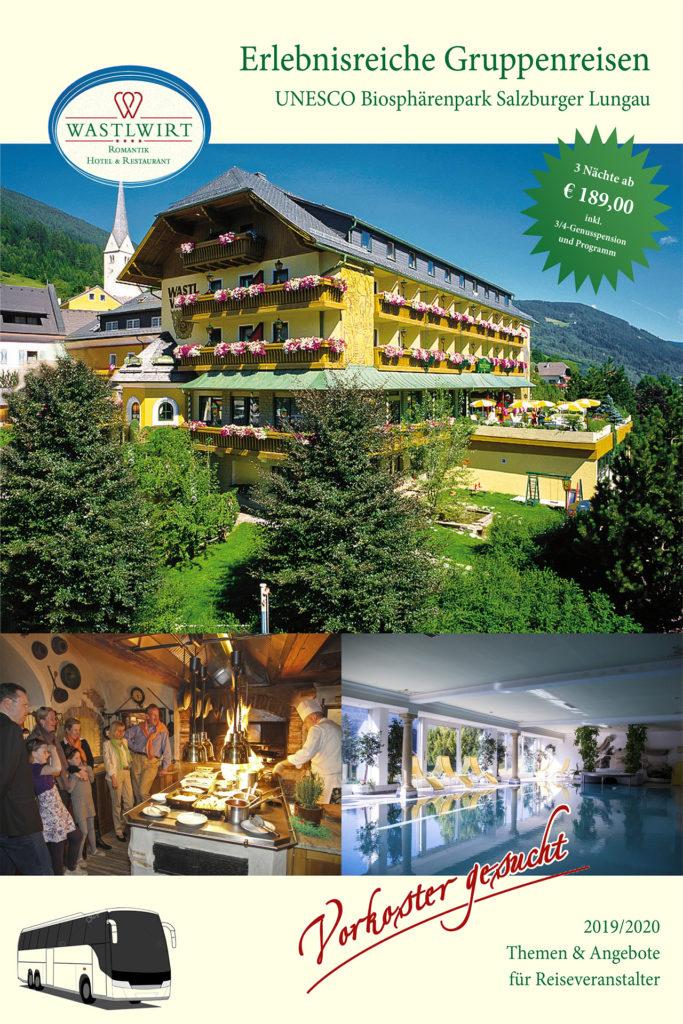 Hotel Wastlwirt - Titelseite Gruppenreisen