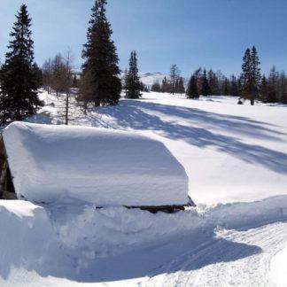 Heustadl im Schnee